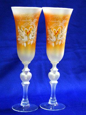 Фужеры под шампанское Оранжевые