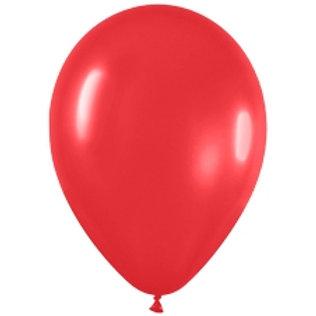 Воздушные шарики круглые латексные без рисунка 30см