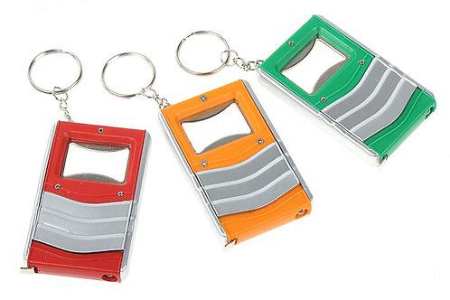 Брелок - открывашка,рулетка,фонарик (три в одном)