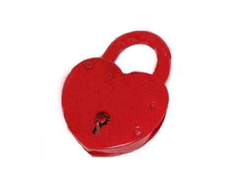 Замочек красный с ключами большой