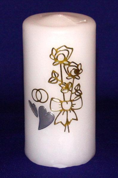 Свеча столбик Цветы