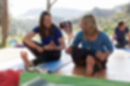 Yoga retreat reviews - tree pose in Spain