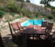 Enjoy the swimming pool at Our off grid yoga retreats