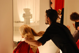 Wella commercial bts moment with beautiful hair