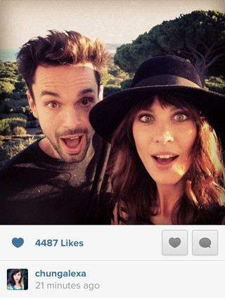 Alexa Chung in St. Tropez with Tobias Sagner for Longchamp