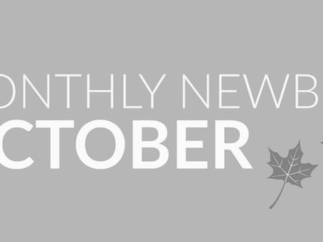 Monthly Newbies // OCTOBER