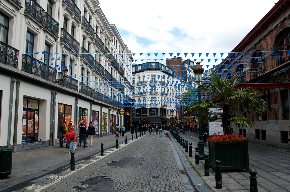 Street in Brussels, Belgium