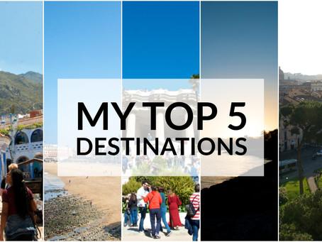 My Top 5 Destinations