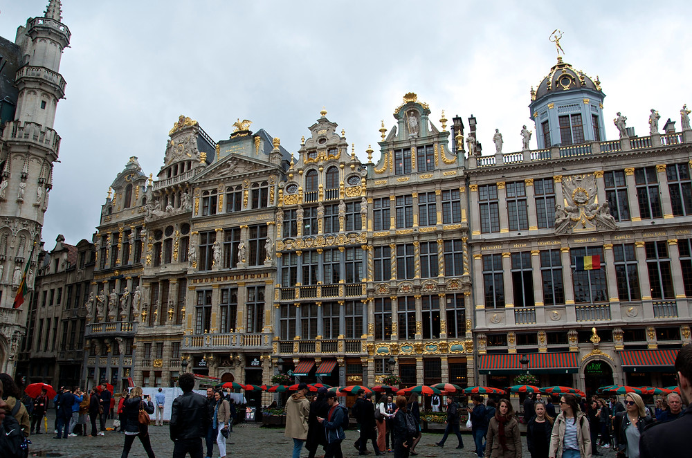 Guild houses in Brussels, Belgium