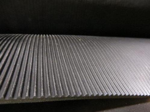 black rubber matting