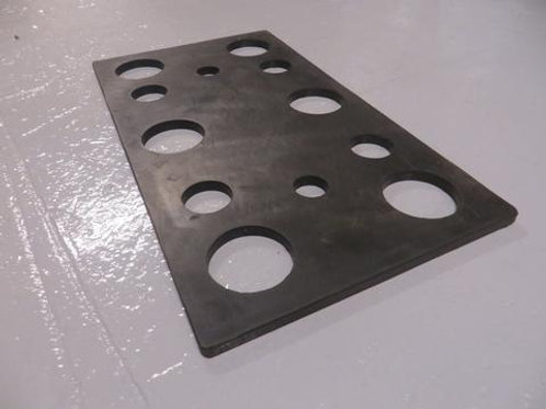 black rubber packer with holes