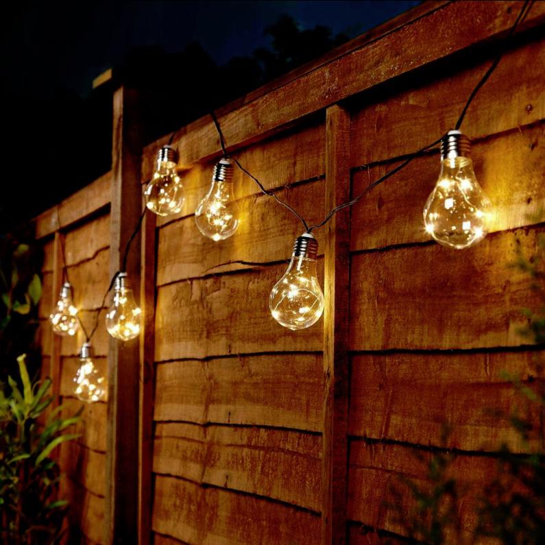 the best attitude 59559 9e2d2 3.9m Solar Powered Warm White Festoon Fairy Lights, 10 LED Bulb    festoonlighting
