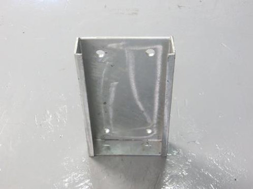 steel back plate on concrete floor