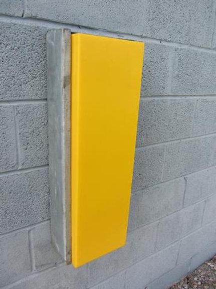 yellow dock bumper on wall