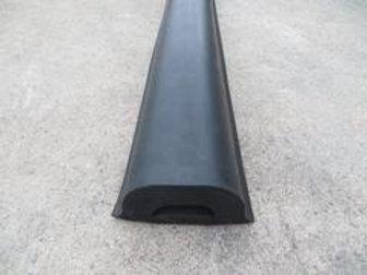 black rubber extrusion on concrete floor