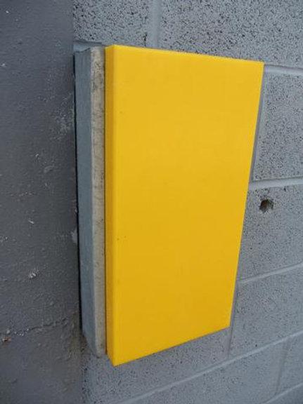yellow dock bumper outside