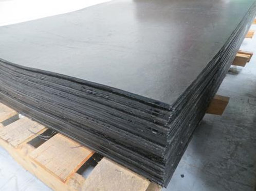 black rubber sheets on a wooden pallet
