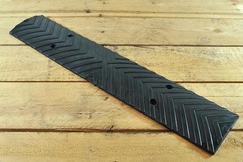 black chevron wall guard on wooden floor
