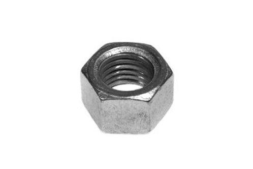 steel fixing bolt on white background