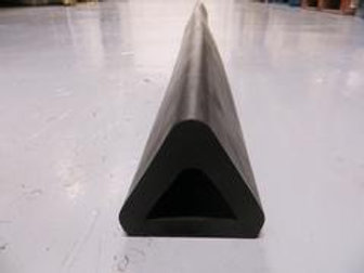 triangle shaped rubber extrusion on concrete floor
