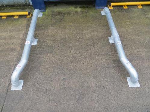 steel wheel guide on concrete floor