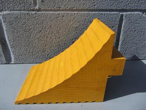 yellow rubber wheel chock