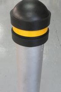 steel bollard with black cap