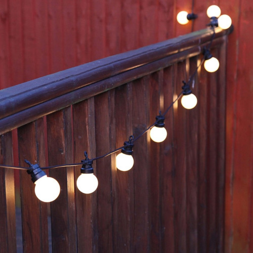 View all outdoor festoon festoon light connectable outdoor warm white led festoon lights frosted bulbs black cable mozeypictures Gallery