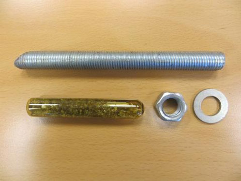 various fixings on wooden table