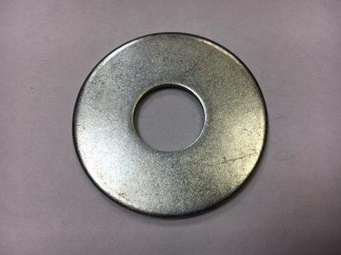 circular steel fixing on concrete floor