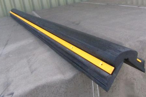 rubber corner protector with yellow line through it