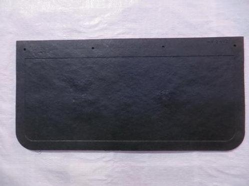 black mud flap on concrete floor