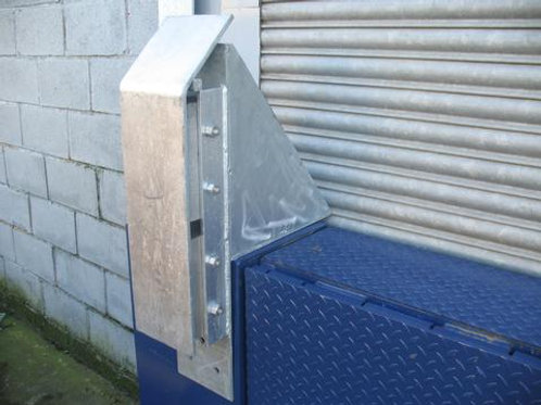 steel dock bumper on warehouse door