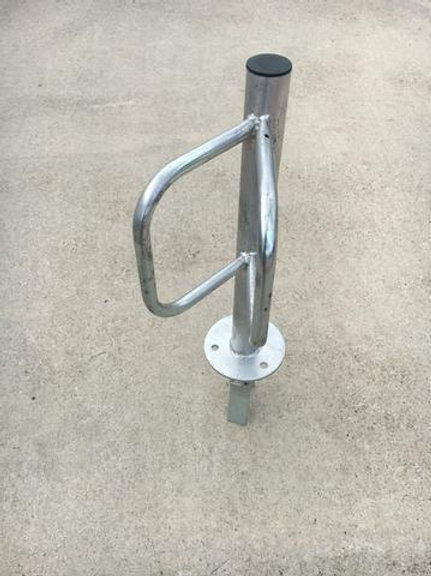 silver steel bike rack outside