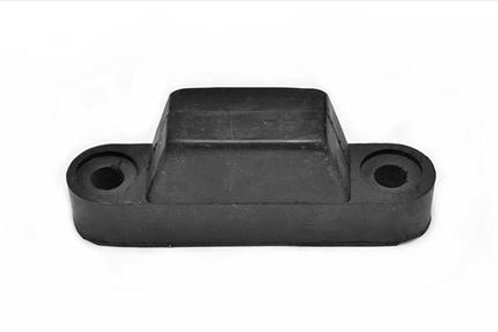 black hgv rubber bumper on white background