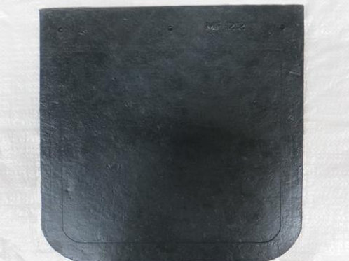black rubber mud flap