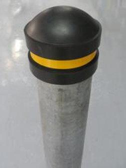 steel bollard inside on concrete floor