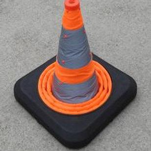 orange collapsible traffic cone