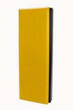yellow nylon faced dock bumper on white background