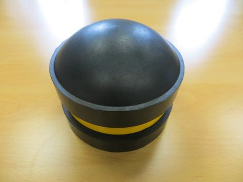black bollard top on wooden floor