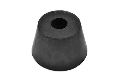 black hgv rubber bumper on white background