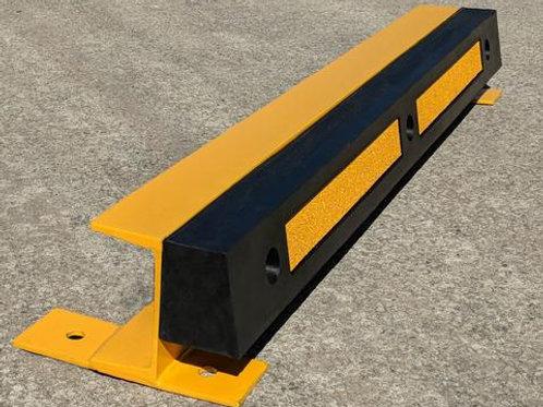 black and yellow kerb ramp on concrete floor