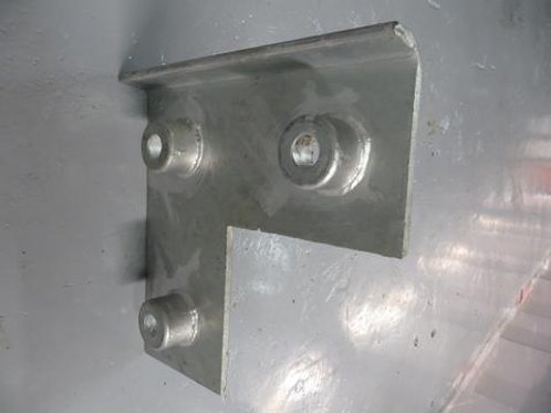 silver front plate on warehouse floor