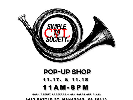 Simple To Society x CVL Pop-Up Shop - 2 Day Event