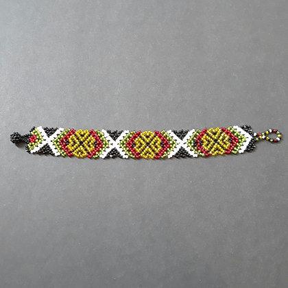Bracelet - Gold, Red, Green & White