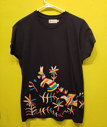 La Red - Otomi Flowers T-shirts