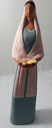 Ceramic Woman w/ Pan Dulce
