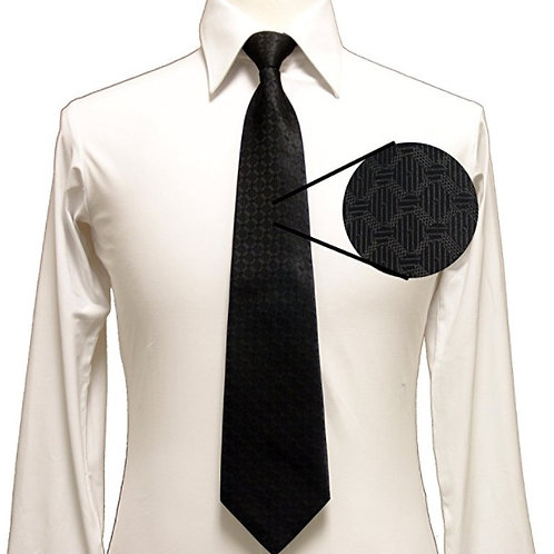 Plain Black Zipper Tie