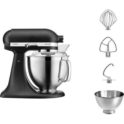 KitchenAid Set Artisan Küchenmaschine Gusseisenschwarz 300Watt 4,8l 5KSM185PSEBK