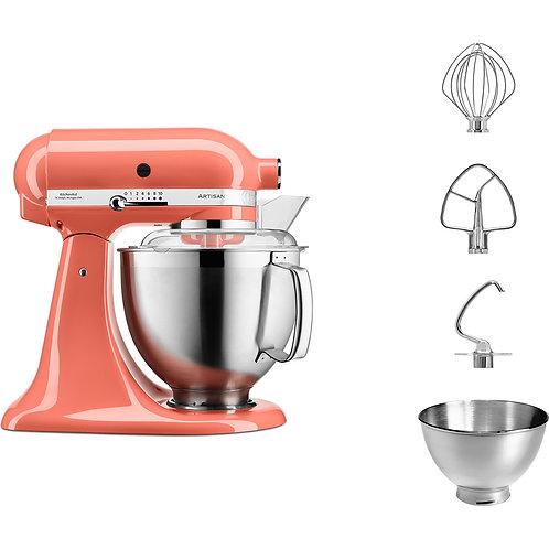 KitchenAid Set Artisan Küchenmaschine Pfirsich 300 Watt 4,8 l 5KSM185PSEPH